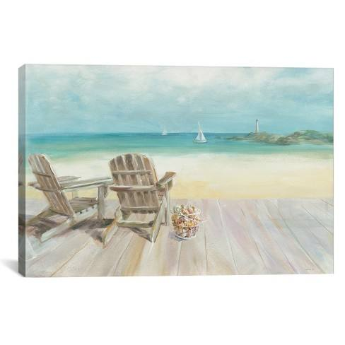 "26""x40"" Seaside Morning No Window by Danhui Nai Unframed Wall Canvas Print Bay Blue - iCanvas"