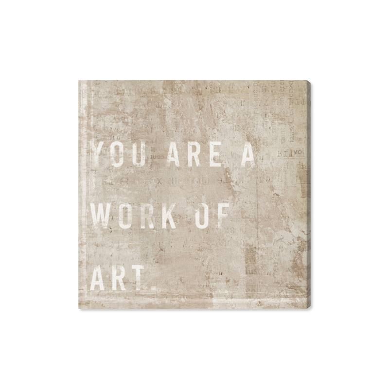 You Are a Work of Art Canvas Wall Art