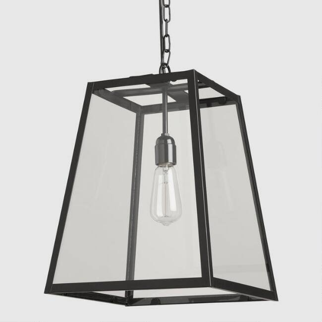 Four-Sided Glass Hanging Pendant Lamp