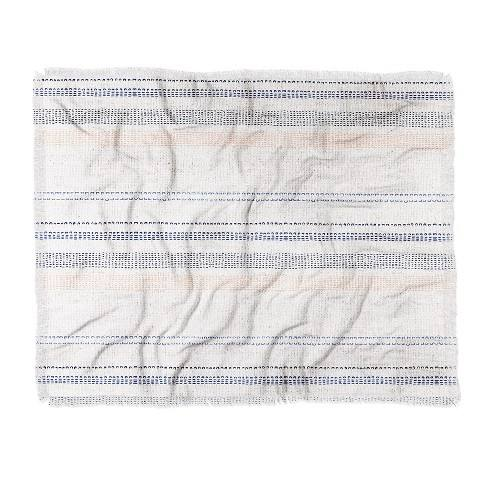 "60""X50"" Holli Zollinger French Stripe Throw Blanket Blue - Deny Designs"