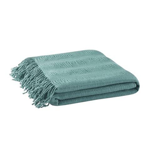 "60""x50"" Reeve Ruched Throw Blanket"