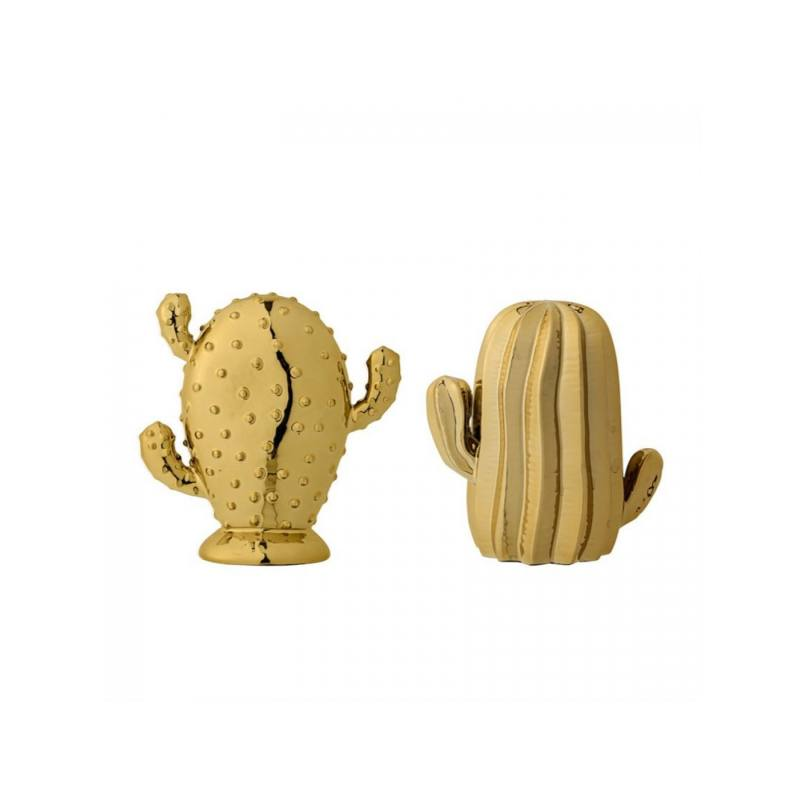 Ceramic Cactus, Gold (Set of 2)
