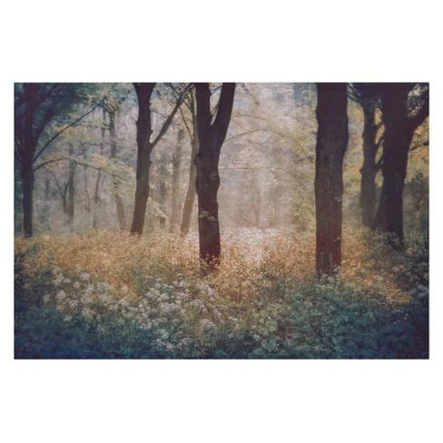"24""x36"" Meadow In The Forest Photography Canvas Art Green - Patton Wall Decor"