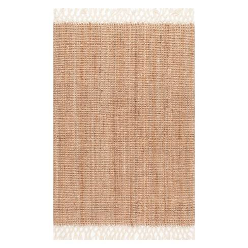 Hand Woven Raleigh White Rug - nuLOOM