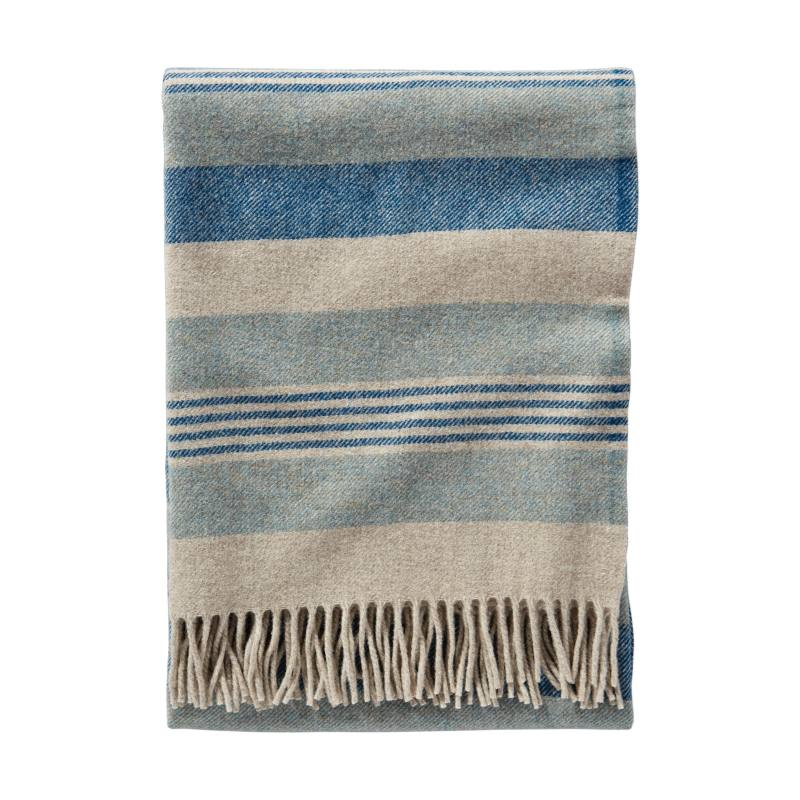 Horizon Stripe Lambswool Throw Blanket