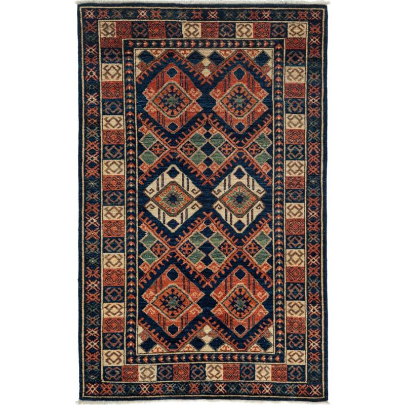 "Driss One of a Kind Rug 4'1"" x 6'6"", Blue"
