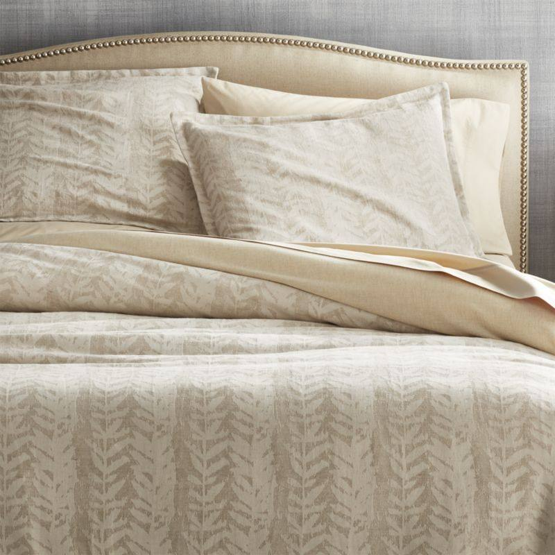 Ellis Leaf Pattern Duvet Covers and Pillow Shams