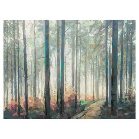 "30""x40"" Woodland Journey By Studio Arts Art On Canvas - Fine Art Canvas"