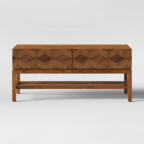 Tachuri Geometric Front Coffee Table Brown - Opalhouse�