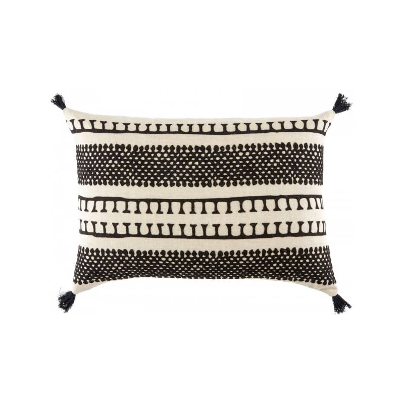 Ventus Pillow, Black and White