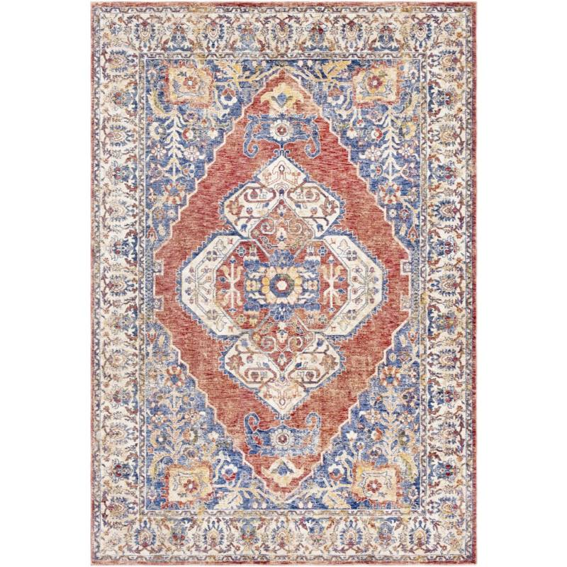 Regalia Rug, Orange and Blue