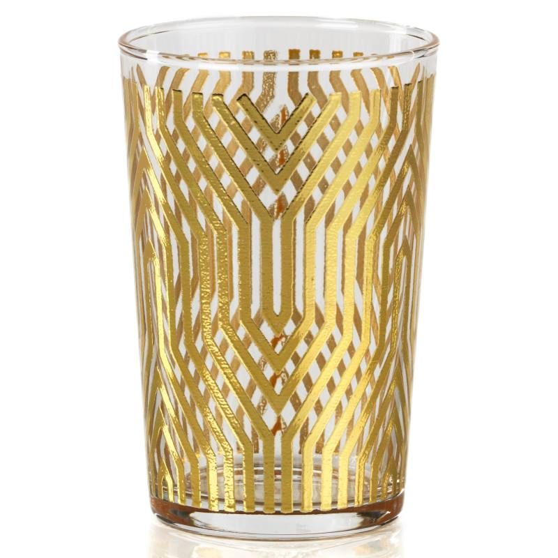 Set of 6 Geometric Pattern Tealight Candleholders