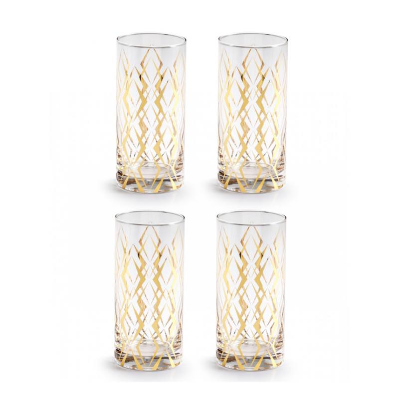 Draper Highball Cocktail Glasses (set of 4)