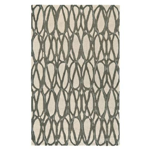 Titanium Tufted Area Rug - (8'X11') - Room Envy