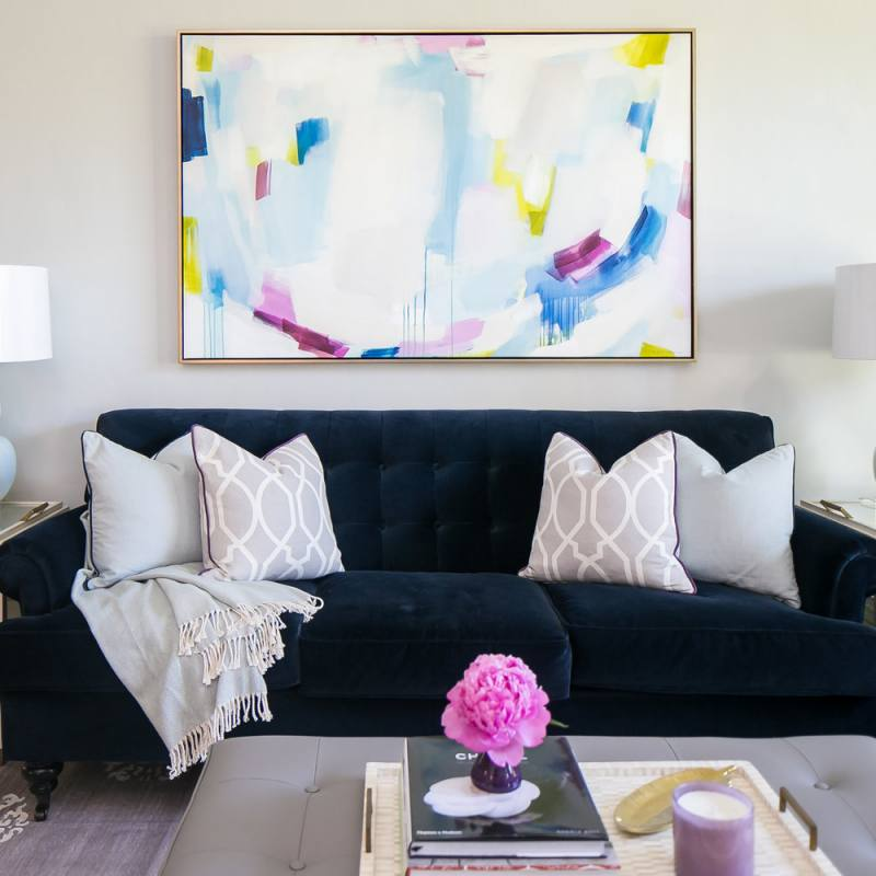 Colorful playful living room by lauren evans