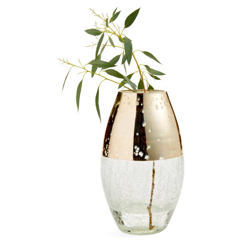 Large Metallic Glass Vase