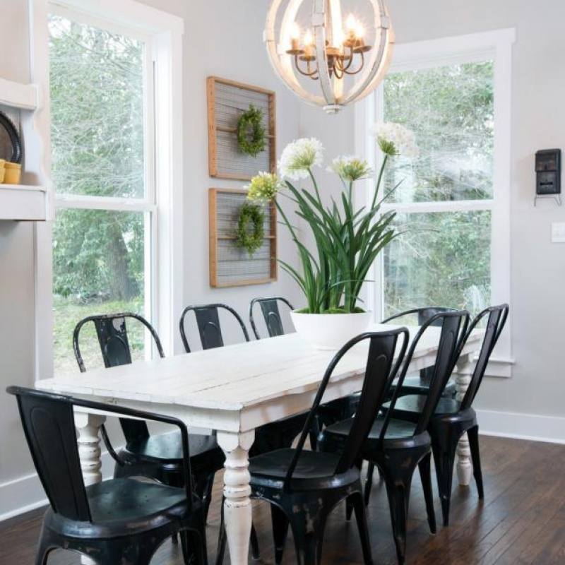 Fixer Upper Harp Dining Room