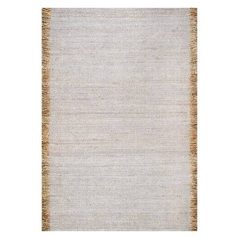 8'X10' Solid Area Rug Gray - nuLOOM