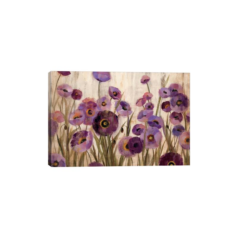 Pink & Purple Flowers by Silvia Vassileva Gicl�e Print Canvas Art