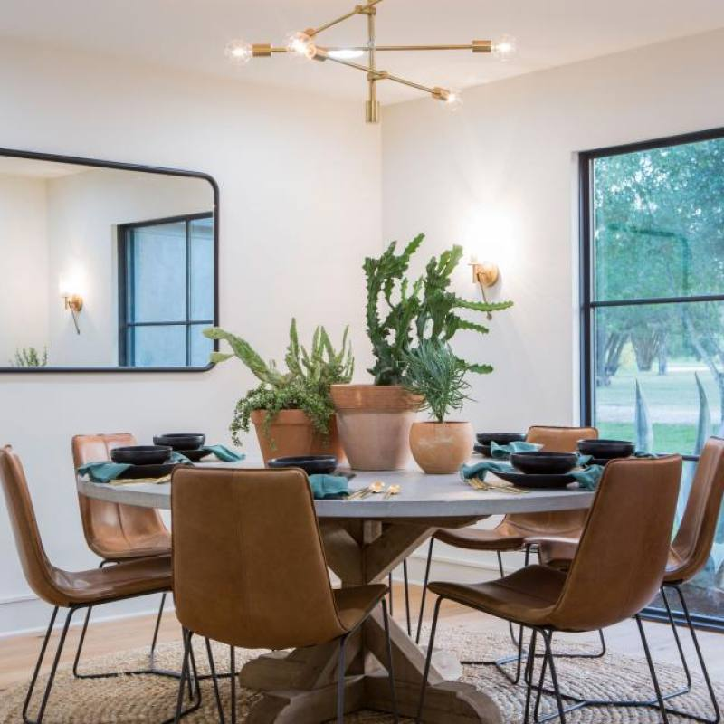 Fixer upper contemporary dining room