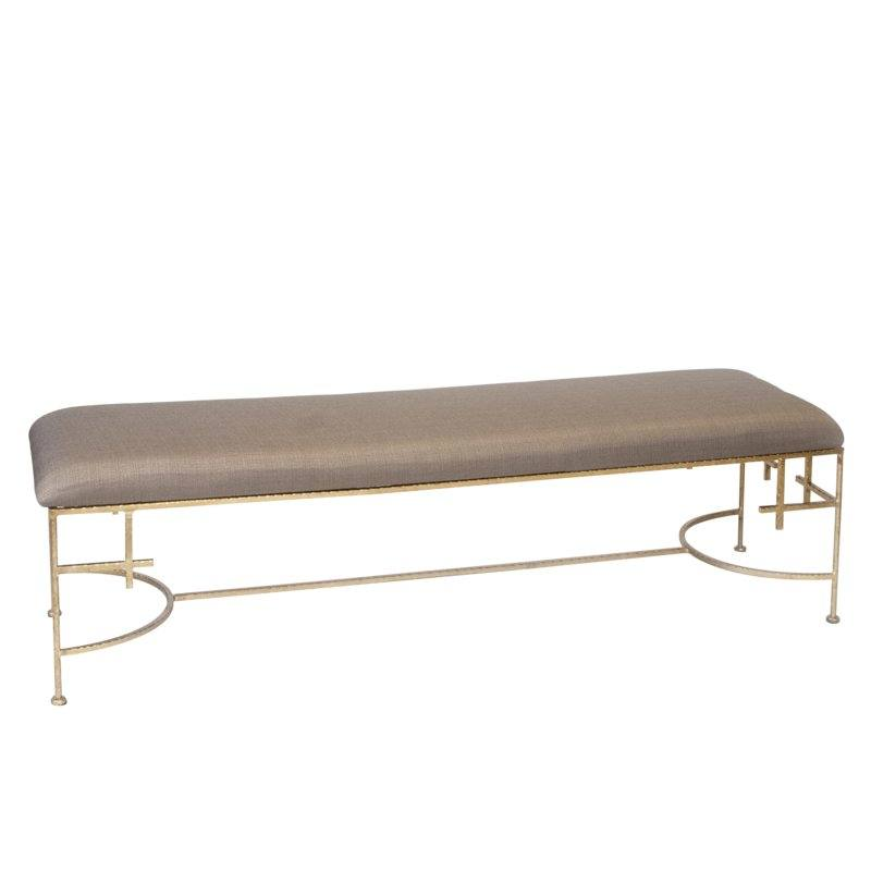 Hammered Upholstered Bench