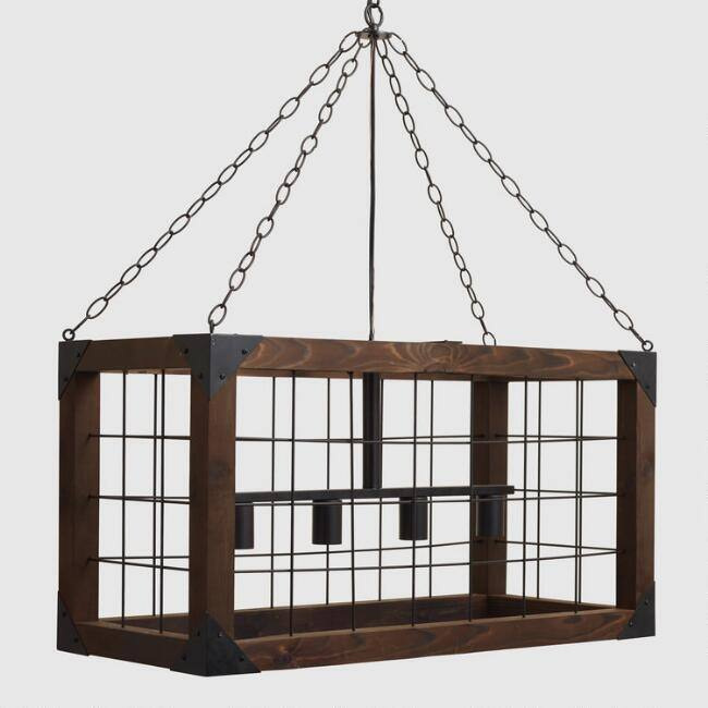 Rectangular Farmhouse 4 Light Chandelier