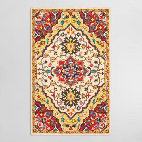 Red Wool Ainsley Area Rug