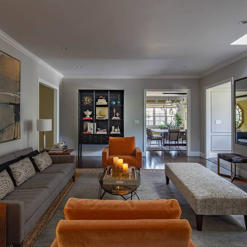 Get the look: Modern ranch style living room