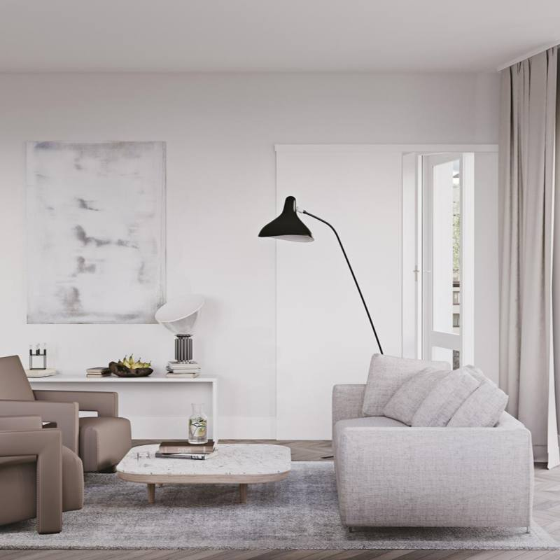 Contemporary modern minimalist nordic interior design