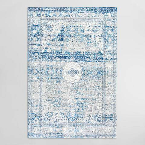Blue Medallion Charlotte Area Rug