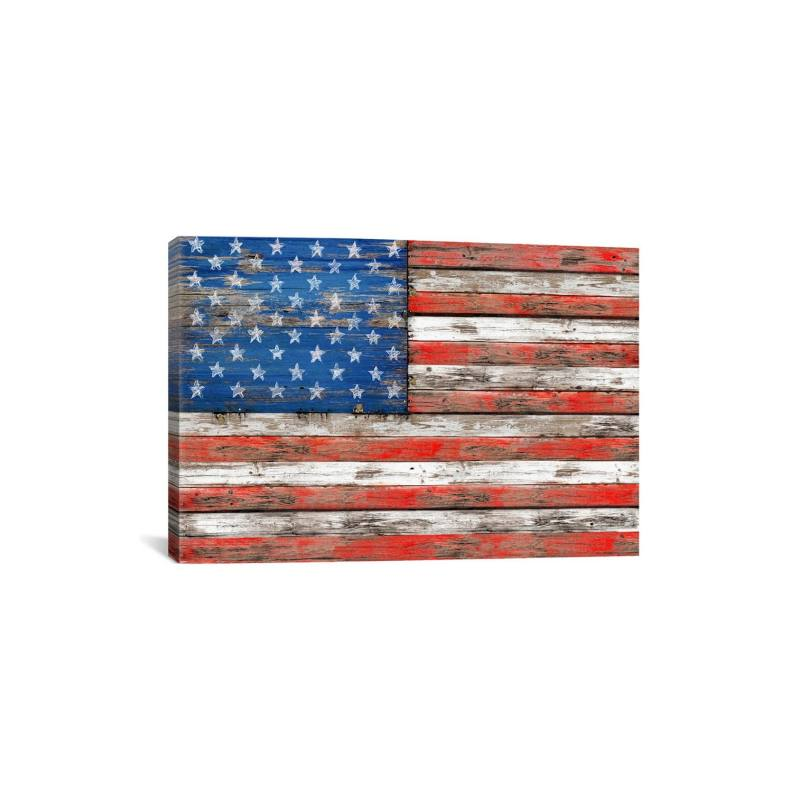 'USA Vintage Wood - Diego Tirigall' Gicl�e Print Canvas Art