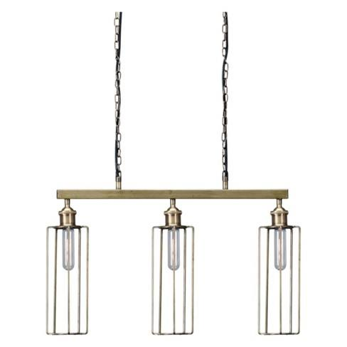 Hilary Metal Pendant Light Brass - Signature Design by Ashley