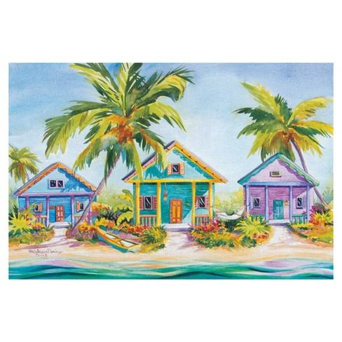 "24""x36"" Island Charm By Kathleen Denis Art On Canvas - Fine Art Canvas"
