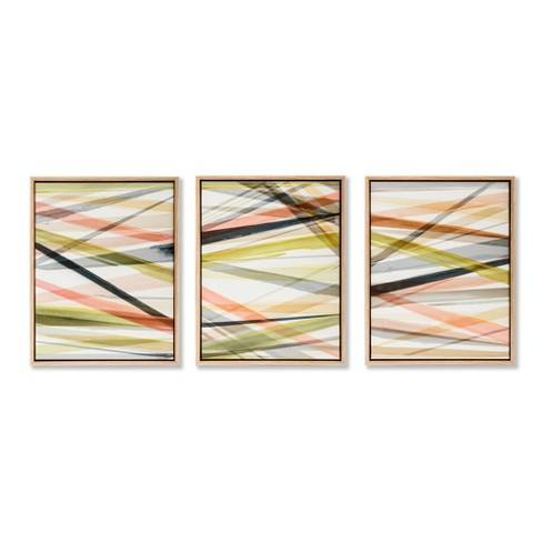 Layered 3pc Tinted Gel Framed Wall Canvas 11 X 14 X 1.75 - Project 62�