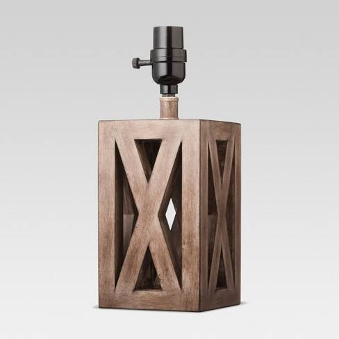 Washed Wood Box Small Lamp Base Brown - Threshold�
