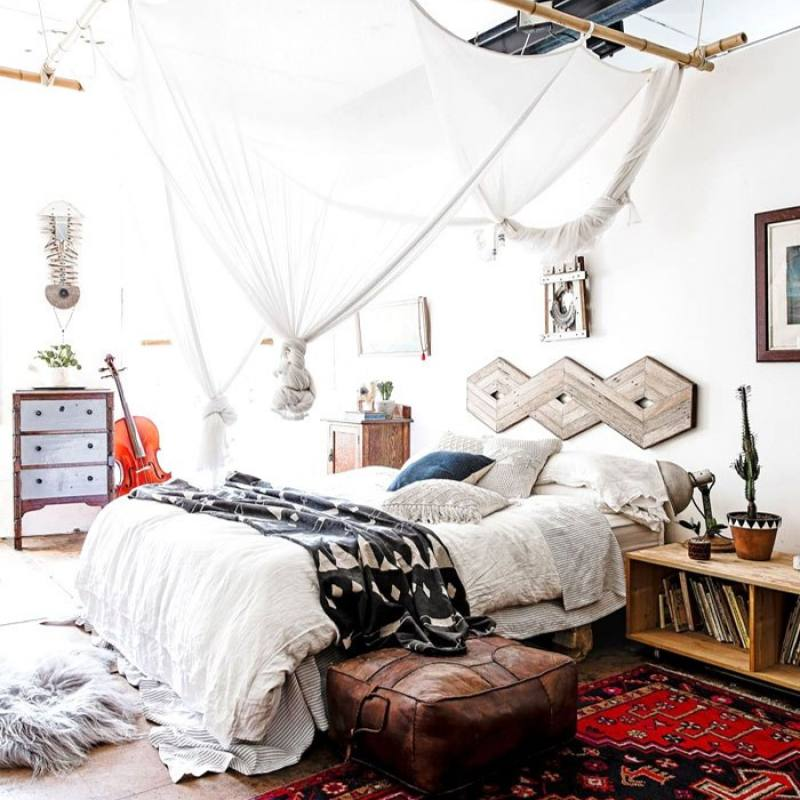 Bold bohemian bedroom