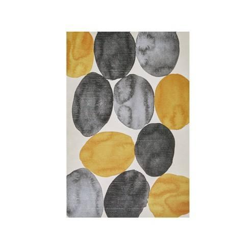 "Amber Puzzle Gel Coat Printed Canvas Yellow 36""x24"""
