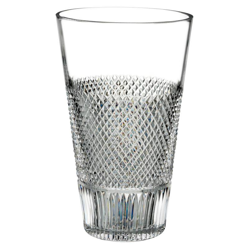 Diamond Line Leaded Crystal Vase