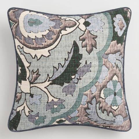 Cool Floral Villa Micha Throw Pillow