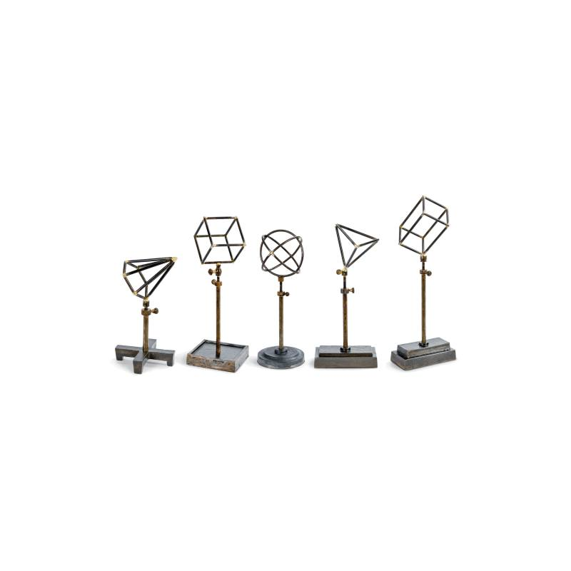 Design Set of 5 Geometric Sculptures