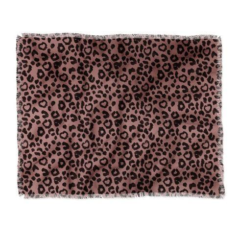 Dash And Ash Leopard Love Throw Blanket Brown - Deny Designs