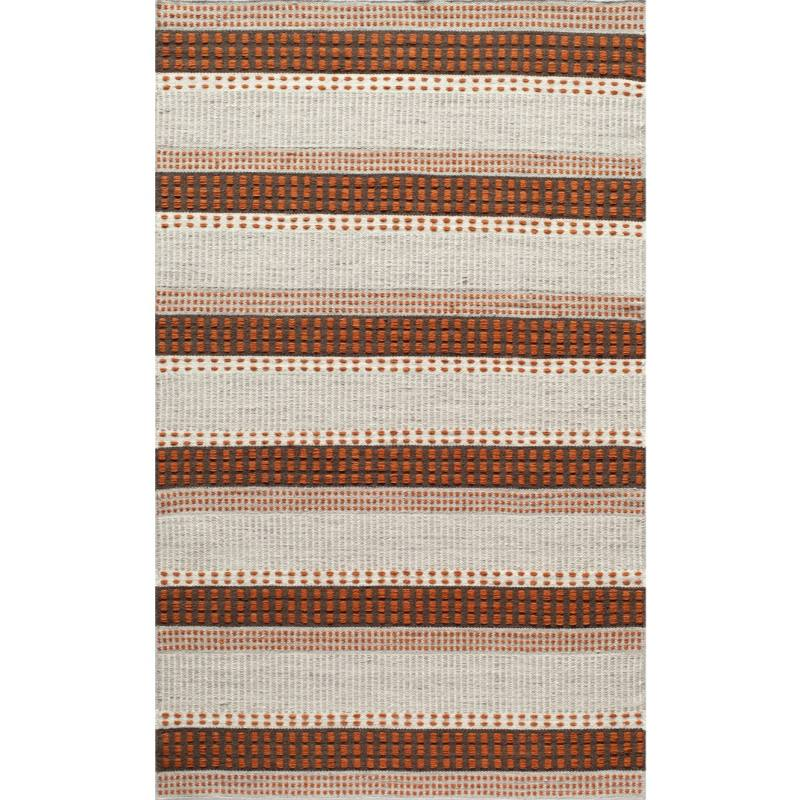 Swiss Dot Rug, Rust