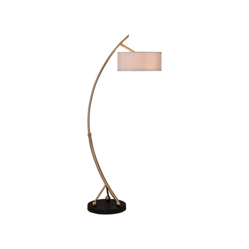 Maribel Floor Lamp, Brass