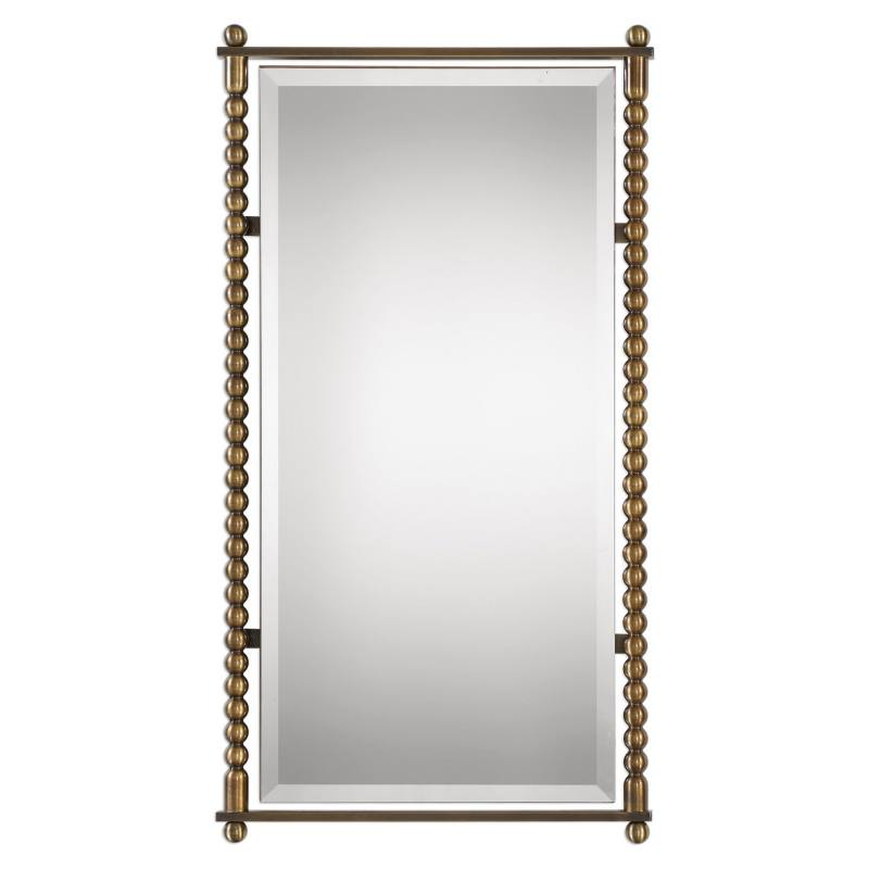 Rosabel Antique Brass Rectangular Mirror