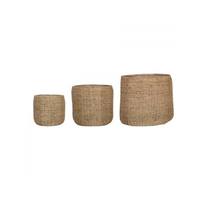 La Jolla Seagrass Baskets Set of 3