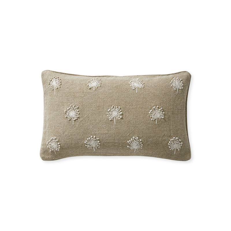 Dandelion Embroidered Pillow Cover