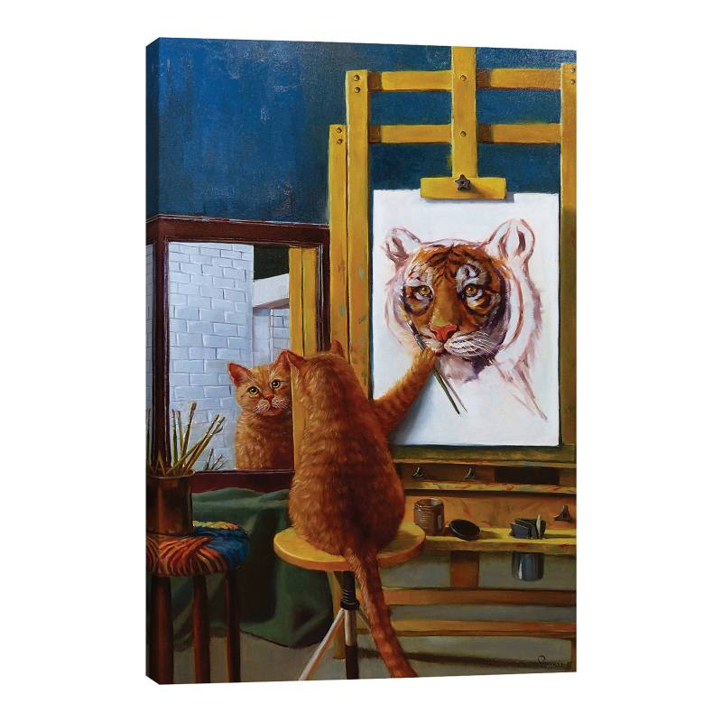 Norman Catwell by Lucia Heffernan Gicl�e Print Canvas Art