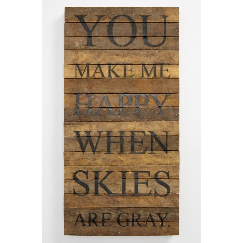 'You Make Me Happy' Wood Wall Plaque