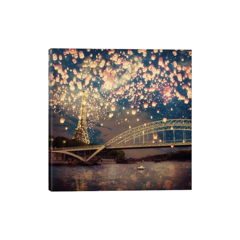 Love Wish Lanterns over Paris Gicl�e Print Canvas Art