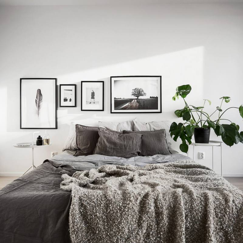 Minimalist Scandinavian apartment Bedroom